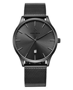 Paul Rich Onyx Hampton Black Mesh Horlogewatch.nl