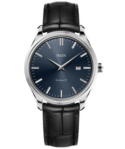 Maen Watch Brooklyn 39 Date Midnight Blue Horlogewatch.nl