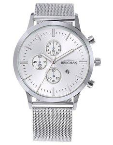 Bregman Monte Carlo BMC-053 Chrono Silver Mesh Horlogewatch.nl