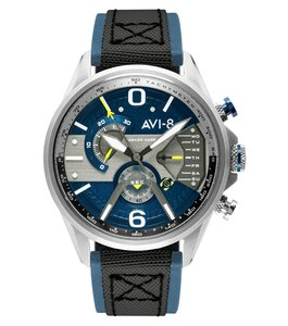 AVI-8 Hawker Harrier II AV-4056-01 Silver Blue Horlogewatch.nl
