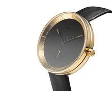 Domeni Co GLL01 signature series black leather gold case Horlogewatch.nl