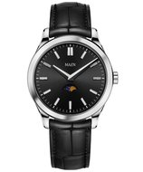 Maen Watch Manhattan 40 Moonphase Jet Black Horlogewatch.nl