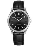 Maen Watch Manhattan 40 Brushed - Jet Black Horlogewatch.nl