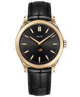 Manhattan 40 Moonphase Brushed Gold Jet Black Horlogewatch.nl