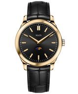 Maen Watch Manhattan 40 Moonphase Gold Jet Black Horlogewatch.nl