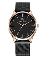 Paul Rich Hampton Rose Gold Black Mesh Horlogewatch.nl