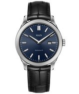 Maen Watch Manhattan 40 Date Brushed Midnight Blue Horlogewatch.nl