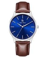 Paul Rich Hampton Blue Silver Brown Leather Horlogewatch.nl