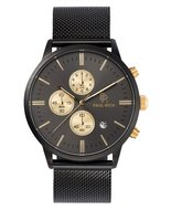 Paul Rich Mesh Chrono Black Gold Horlogewatch.nl