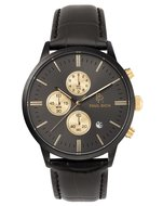 Paul Rich Chrono Black Gold Leer Horlogewatch.nl