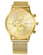 Bregman Monte Carlo BMC-041 Mesh Chrono Gold Horlogewatch.nl
