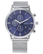 Bregman Monte Carlo BMC-052 Chrono Blue Silver Mesh Horlogewatch.nl