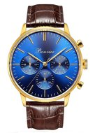 Bonvier Monza Blue Gold Chronograaf Horlogewatch.nl