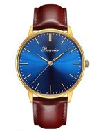 Bonvier Classic Blue Gold 40mm Horlogewatch.nl