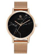 Paul Rich Rome Black Rose Gold Mesh Marble Horlogewatch.nl