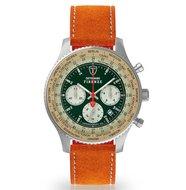 Detomaso Firenze XXL DT1045-B-807 Silver Green Racing Horlogewatch.nl
