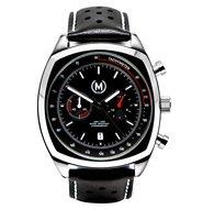 Marchand Classic Driver Chrono Black Strap Horlogewatch.nl
