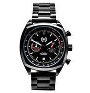 Marchand Black Driver Chrono Metal Strap Horlogewatch.nl